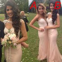 Новый стиль Русалка платья невесты 2 016 кружево шифон длинное платье партии для свадьбы Элегантная
