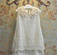2016 Spring Summer Girls Lace Vest Dresses Princess Cotton S...