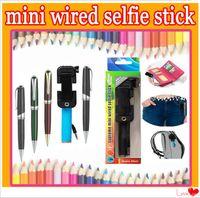 Handheld monopod selfie sticks pen pocket foldable portable ...