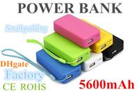 5600mAh Малый пудинга Банк питания чрезвычайным Внешнее зарядное устройство панель USB 5600mAh ТЕЛЕФОН БАНК