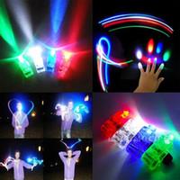 Finger Балки LED Finger Light Up Ring Laser LED Rave Dance Party Благоприятная Glow Балки свет перста СИД # 08