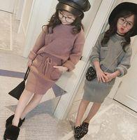 2016 Autumn Fashion Children Girls Sweater Tops Loosen + Pen...