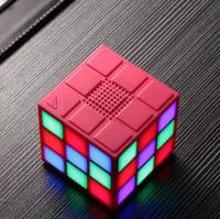 Магический кубик Красочные 36 LED 5 Режим Bluetooth 4.0 Мини-динамик беспроводной портативный супер-бас сабвуфера звук Handsfree для iPhone Tablet PC TF