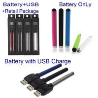Date O-pen Vape Bud tactile Batterie avec chargeur USB cigarette électronique Cartouches de cire Stylos huile 510 Fil Pour CE3 Vaporisateur Pen Cartouches TZ694