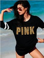 "New Fashion Women Sweatshirt Knitted "" Pink"" Letter..."