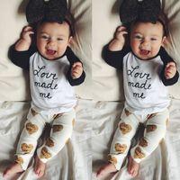 baby boys girls consume children clothing set 2016 newest fa...