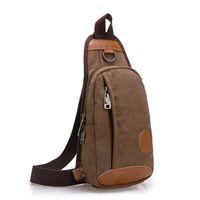 Men' s Canvas Sling Chest Bags Crossbody Bag Women Casua...