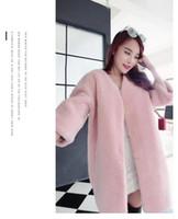 2016 Autumn And Winter Women Faux Fur Coat Fashion Long Down...