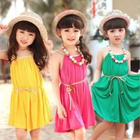 3 color options Girl Dress Summer new Toddler baby girls dre...
