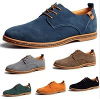 2016 Suede European style leather Shoes Men' s oxfords C...