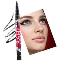 New 36H liquide hydrofuge noir Crayon Eyeliner Skid résistant Eye liner Pen pour le maquillage cosmétique Accueil Utilisation Qualité Shippment rapide