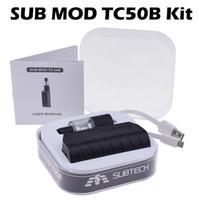 100% Capacité d'origine Subtech TC50B Kit 2200mAh Batterie Avec H9 atomiseur 0.5ohm Vaporisateur SUB MOD E Kits de cigarettes