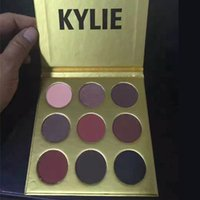 2016 Gold Edition Kylie Jenner Kyshadow Poudre Compacte Eyeshadow Kit 9 couleurs Eye Shadow Palette MR206