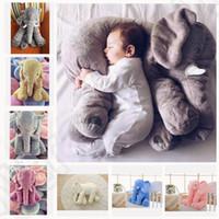 6 cores LJJK277 travesseiro de elefante bebê crianças boneca dormir travesseiro presente de aniversário INS travesseiro lombar longo nariz elefante boneca macio pelúcia