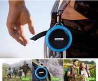 C6 IPX7 Deportes al aire libre Portable inalámbrico inalámbrico Bluetooth Speaker Succión Copa Handsfre reproductor estéreo para IOS dispositivo Android 20pcs / up