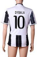 16- 17 Black White Strip 10 DYBALA Home Soccer Jerseys Shirt ...