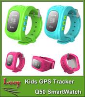 Smartwatch anti perdu GPS Tracker regarder pour les enfants SOS urgence GSM Smart Mobile App pour IOS Android Smartwatch Wristband alarme
