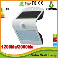 Smart Sensor and Solar Power LED Wall light PIR Motion Senso...