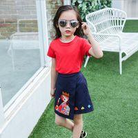 2016 summer new children' s clothing girls cotton short-...