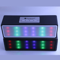 HY- BT95 Wood Color lED Protable Bluetooth Speaker Music Wire...