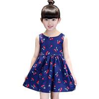 Hot sale 2- 12 years 2016 Summer Girl Dress Casual Dresses Gi...