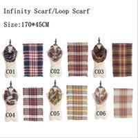Women Plaids Infinity Scarves Grid Loop Scarf Blankets Tarta...