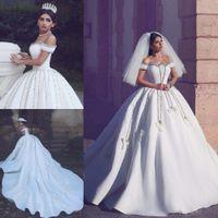 Luxury Crystals Wedding Dresses High Quality Custom Made Bri...