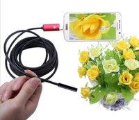 2016 2in1 USB endoscope endoscope. Appareil photo pour ordinateur portable Andrews. Inspection des pipelines. Dentisterie. Imperméable. Objectif 5.5MM / Câble 5M