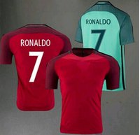 2016 Portugal Soccer Jersey Cristiano Ronaldo Football Cloth...