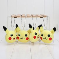 Anime Cartoon Poke Center Pikachu Soft Plush Toy Keychain Pe...