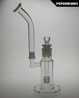 Bongs en verre avec tuyau d'eau de percolateur à matrice enlevée avec bol en verre avec embout plus long Taille de joint femelle 18.8mm MOD-Body