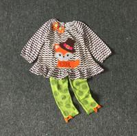 Meninas Halloween Kids pano edições raras Fox pequeno equipamento de impressão Menina do feriado Roupa 8sets / lot para 2-8T Hot venda
