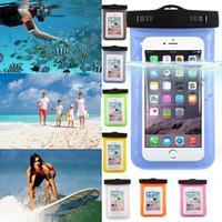 boîtier étanche à l'eau universel pour s7 Iphone 5 6 6S Plus, sac de téléphone portable à sec sac de téléphone étanche samsung galaxy