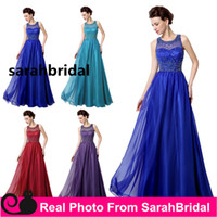Real Image Photo Long Prom Evening Dresses Cheap Custom Made...