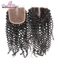 Peruvian Human Virgi Hair Unprocessed Curly Top Lace Closure...