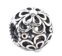 Bracelet en argent sterling fleur de cerisier Charms européens perles pour Pandora Fit bricolage bracelets chaîne de serpent bijoux design