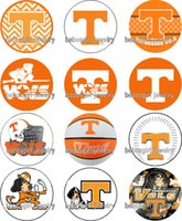Free shipping Sport Tennessee glass Snap button Charm Popper...