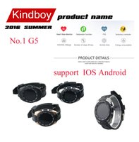 2016 No.1 G5 MTK2502C 1,2 pouce Smart Watch Bluetooth 4.0 moniteur de fréquence cardiaque Smartwatch bluetooth regarde android et ios de kindboy DHL