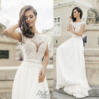 Milla Nova Beach Wedding Dresses White Chiffon Summer Bridal...