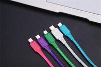 Câble téléphone portable 2.4A foudre câble Micro USB Câble Visible Flowing Data Cable LED pour Samsung S7 Note7 Huawei P9 Smartphones