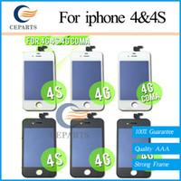 A +++ verre de qualité écran tactile numériseur écran LCD remplacement de l'Assemblée pour iPhone 4 4G pour iPhone 4s 4G avec DHL livraison gratuite
