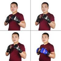 SUTEN Upscale Boxing Gloves Half Finger Mitts Gloves Beathab...