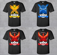 Poke Go T- Shirt Team Instinct Valor Mystic T- shirts DHL men ...