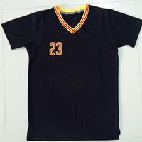 Леброн Джеймс 23 Черный Баскетбол Джерси с коротким рукавом Мужская 2016 года Баскетбол чемпионов Рубашки Top Качество Спортивная одежда прошитой Имя
