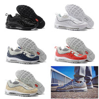 5Color Drop Shipping Cheap Famous Air 98 Snakeskin Navy blue...
