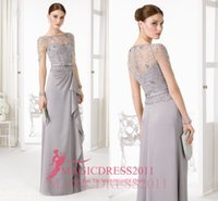 2016 Romantic Silver Grey Mother Of The Bride Dresses With I...
