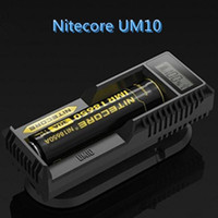 Nuevo cargador Nitecore UM10 Cargadores inteligentes Pantalla LCD para Li-ion IMR Batería 18650 18490 18350