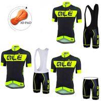 ALE 2016 Cycling Jerseys Short Sleeve+ Padded Bib None Bib Tr...