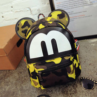 Wholesale price girl' s students Mickey bag shoulders wa...