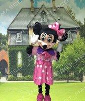 MALL140 Custom Wedding Minnie Mascot Cartoon Costume Pink Mi...
